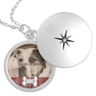 Lembrança rústica personalizada do memorial da colar banhado a prata