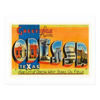 Lembrança velha das viagens vintage de Odessa Cartão Postal