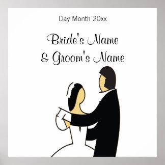Lembranças do casamento, presentes, ofertas para poster