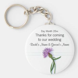 Lembranças escocesas do casamento, presentes, chaveiro