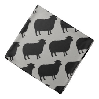 Lenço A ovelha negra mostra em silhueta o teste padrão