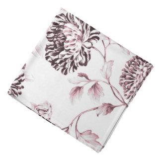 Lenço Brancos antigos & coram Toile floral botânico