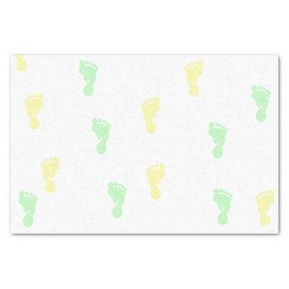 Lenço de papel amarelo & verde das pegadas 10lb do