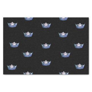 Lenço de papel azul da coroa da senhorita América