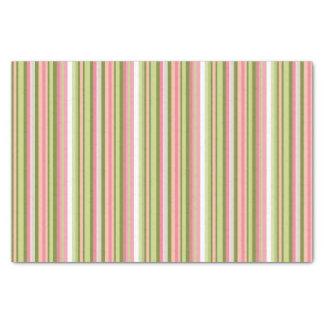 Lenço de papel cor-de-rosa e verde da listra