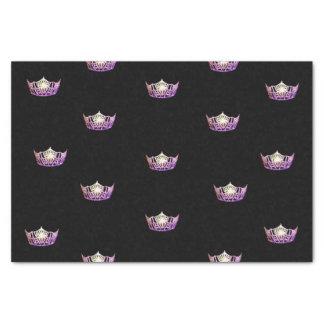 Lenço de papel da coroa da orquídea da senhorita