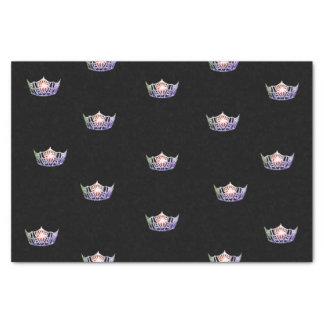 Lenço de papel da coroa da prata da lavanda da