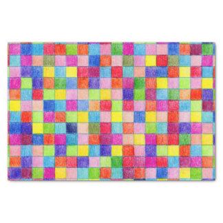 Lenço de papel de quadrados colorido colorido do