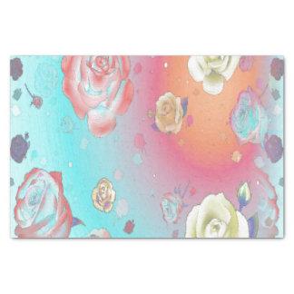 Lenço de papel do Aqua dos rosas do fantasma