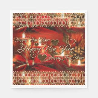 Lenço de papel do feliz ano novo guardanapo de papel