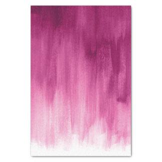 Lenço de papel fraco da arte da escova do rosa do