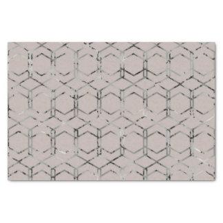 Lenço de papel geométrico de prata