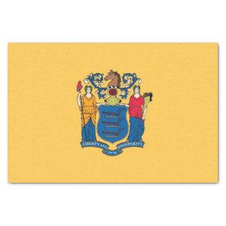 Lenço de papel patriótico com bandeira New-jersey