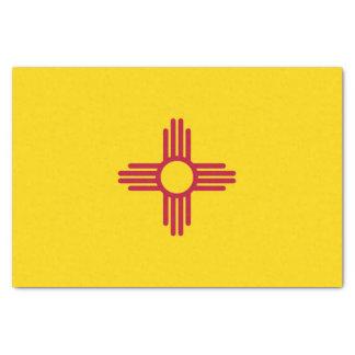 Lenço de papel patriótico com bandeira New mexico