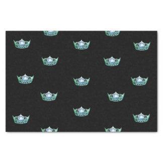 Lenço de papel verde da coroa da senhorita América