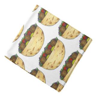 Lenço Impressão mediterrâneo Foodie do sanduíche do