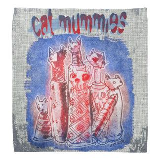 Lenço mamãs do gato com fundo textured