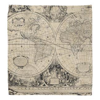 Lenço Mapa de Velho Mundo
