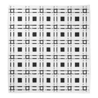 Lenço quadrado praça graphic preto branco black white