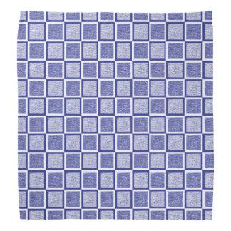 Lenço Quadrados azuis e brancos estáticos