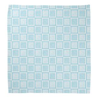 Lenço Quadrados azuis e brancos Pastel estáticos
