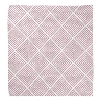 Lenço Quadrados geométricos cor-de-rosa