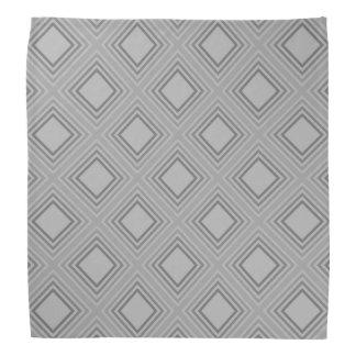 Lenço Teste padrão cinzento clássico dos quadrados