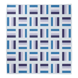 Lenço Teste padrão quadrado muito original - branco azul
