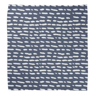 Lenço Traço do azul e do cinza de índigo - Brushstroke -