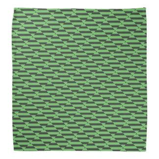 Lenço Tubos Checkered verdes & amarelos