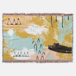 Lençol A hortelã abstrata tribal da arte da paisagem cora