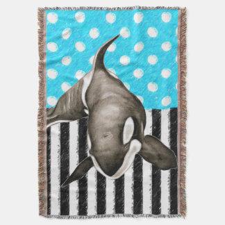 Lençol Bolinhas do azul da orca