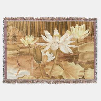 Lençol Cobertura do lance da flor de Lotus