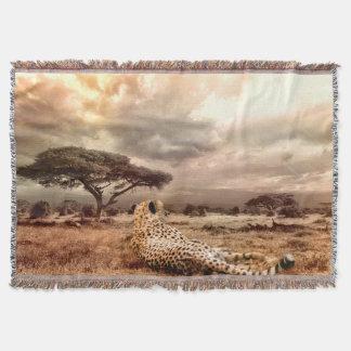 Lençol Cobertura do lance do leopardo