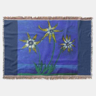 Lençol Cobertura textured flor do lance da arte