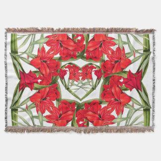 Lençol Corações florais das flores da cobertura do lance