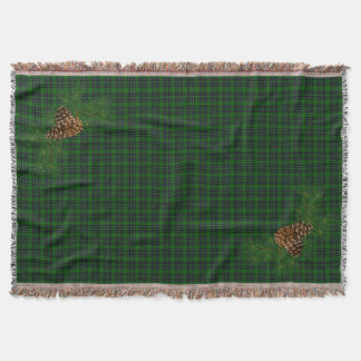Lençol Detalhe verde e preto do pinho-cone da xadrez