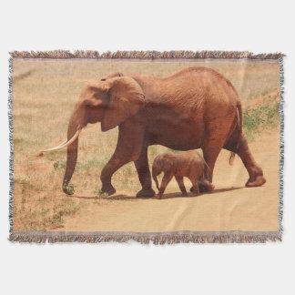 Lençol Elefante da mãe e cobertura do lance do bebê