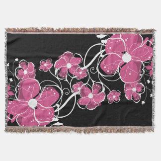 Lençol Flores cor-de-rosa e brancas femininos modernas