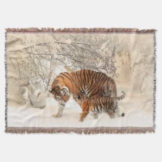 Lençol Mãe do tigre e cobertura do lance de Cub