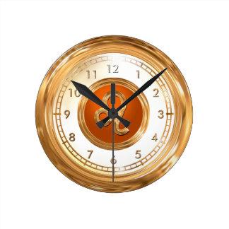 LEO - o símbolo do horóscopo do leão Relógio Redondo
