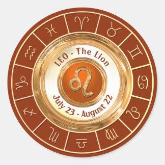LEO - o sinal astrológico do leão Adesivo