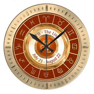 LEO - o sinal astrológico do leão Relógio Grande