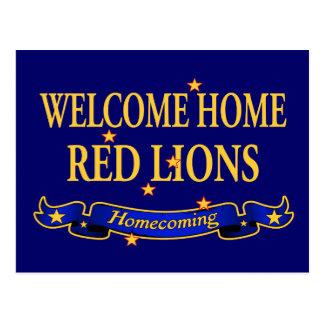 Leões vermelhos Home bem-vindos Cartão Postal