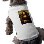 Leonardo da Vinci Mona Lisa Camisa Sem Mangas Para Cachorro