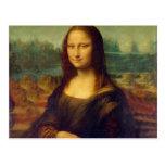 Leonardo da Vinci, pintura de Mona Lisa Cartão Postal