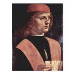 Leonardo da Vinci Portr? eines Musikers Italiano d Cartão Postal