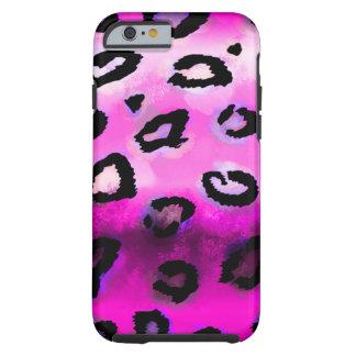 Leopardo do Grunge do rosa quente Capa Tough Para iPhone 6