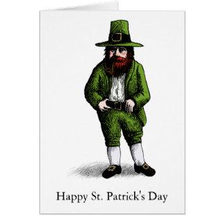 Leprechaun do dia de St Patrick Cartão Comemorativo