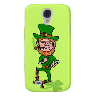 Leprechaun irlandês afortunado irritado engraçado galaxy s4 case